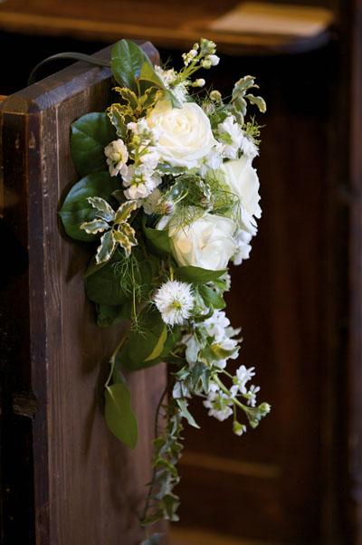 pew ends church flowers. Black Bedroom Furniture Sets. Home Design Ideas