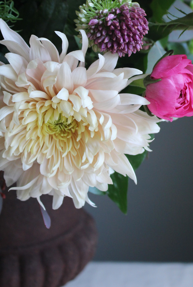 Chrysanthemum Allium and Ranunculus
